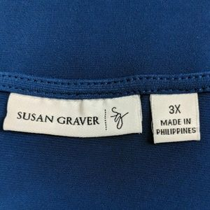 Susan Graver Tops - Susan Graver Blue Sleeveless Top